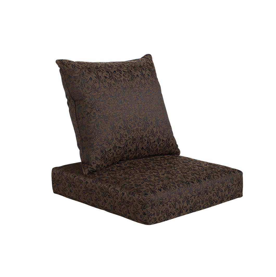 Bossima Mozart Deep Seat Cushion Set - Black Floral