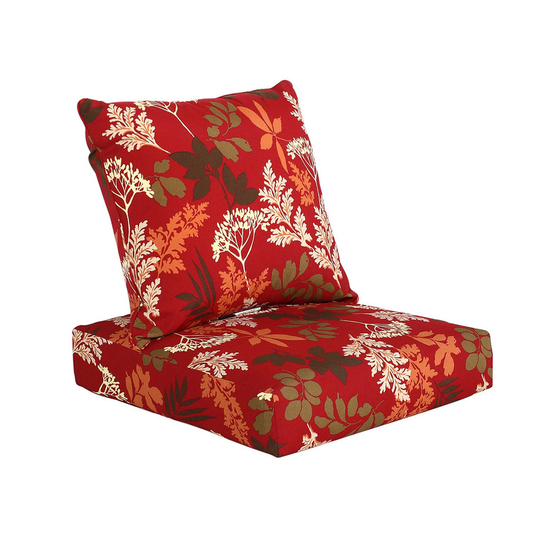 Bossima Gardenia Deep Seat Cushion Set - Red Floral