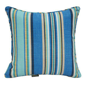 Blue Striped Outdoor Waterproof Scatter Cushion Pads
