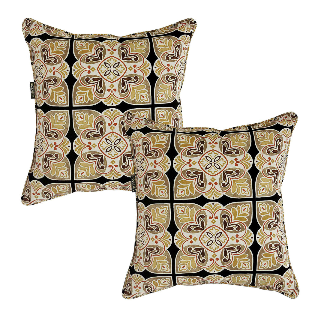 Bossima Outdoor Scatter Cushion Pillow Damask Set of 2