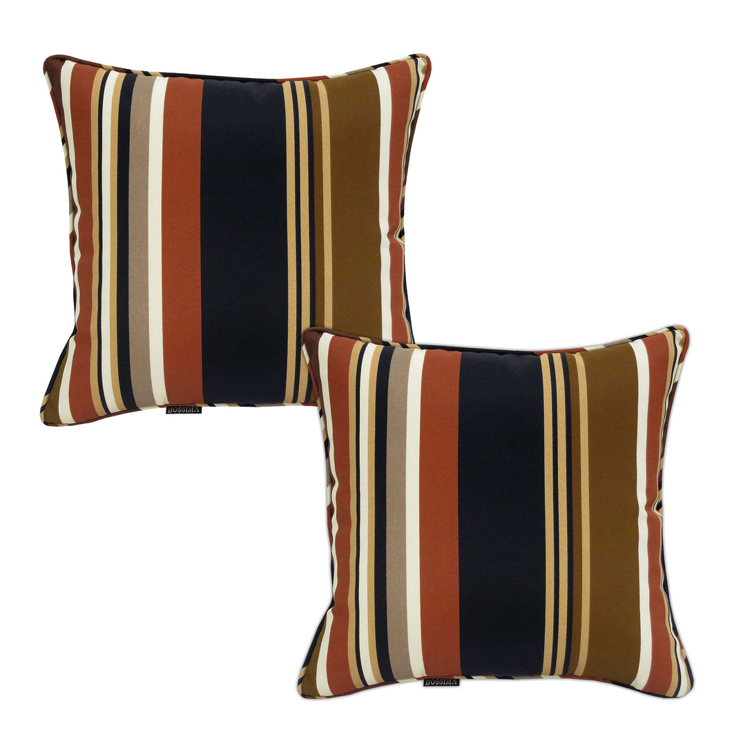 Sahara Outdoor Scatter Cushions - Stripes (Set of 2 )