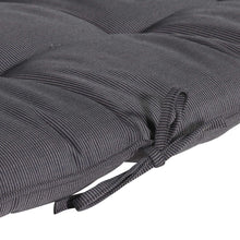 Cabana Outdoor Sun Bed Cushion with Pillow - Black Grey