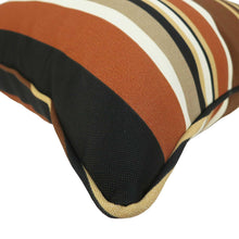 Bossima Outdoor Throw Cushions -Brown Striped