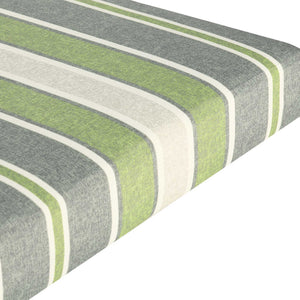 Bossima Outdoor Seat Pad Cushions - Green Stripes ( Sets of 4 )