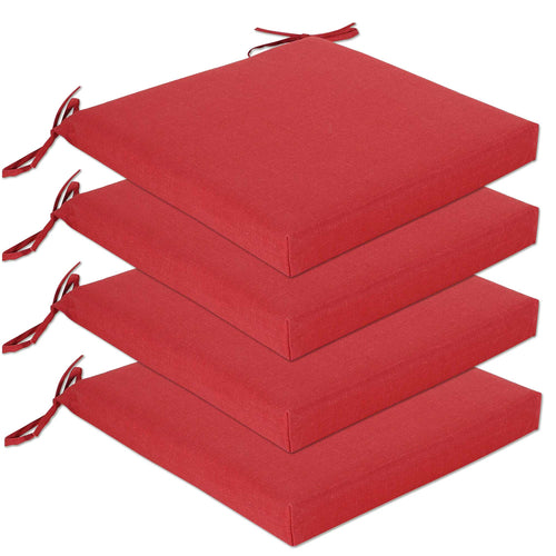 Set of 4 Bossima Seat Pad Large Outdoor Cushions Online - Red