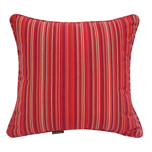 Sunkiss Striped Outdoor Sunbrella Scatter Cushions - Red
