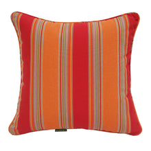Sunkiss Striped Outdoor Sunbrella Scatter Cushions - Mango Orange