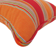 Bossima Striped Outdoor Sunbrella Scatter Cushions - Mango Orange