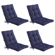 Bossima Midback Outdoor Cushion - Navy Blue (Set of 4)
