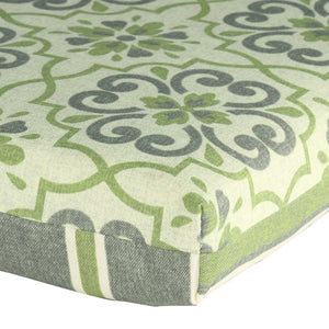 St Barts Outdoor Bench Cushion 120cm - Green Mixed