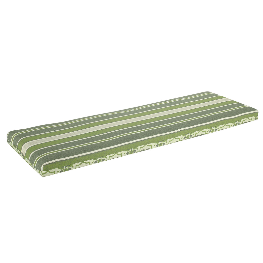 Bossima St Barts Outdoor Bench Cushion 120cm - Green Mixed