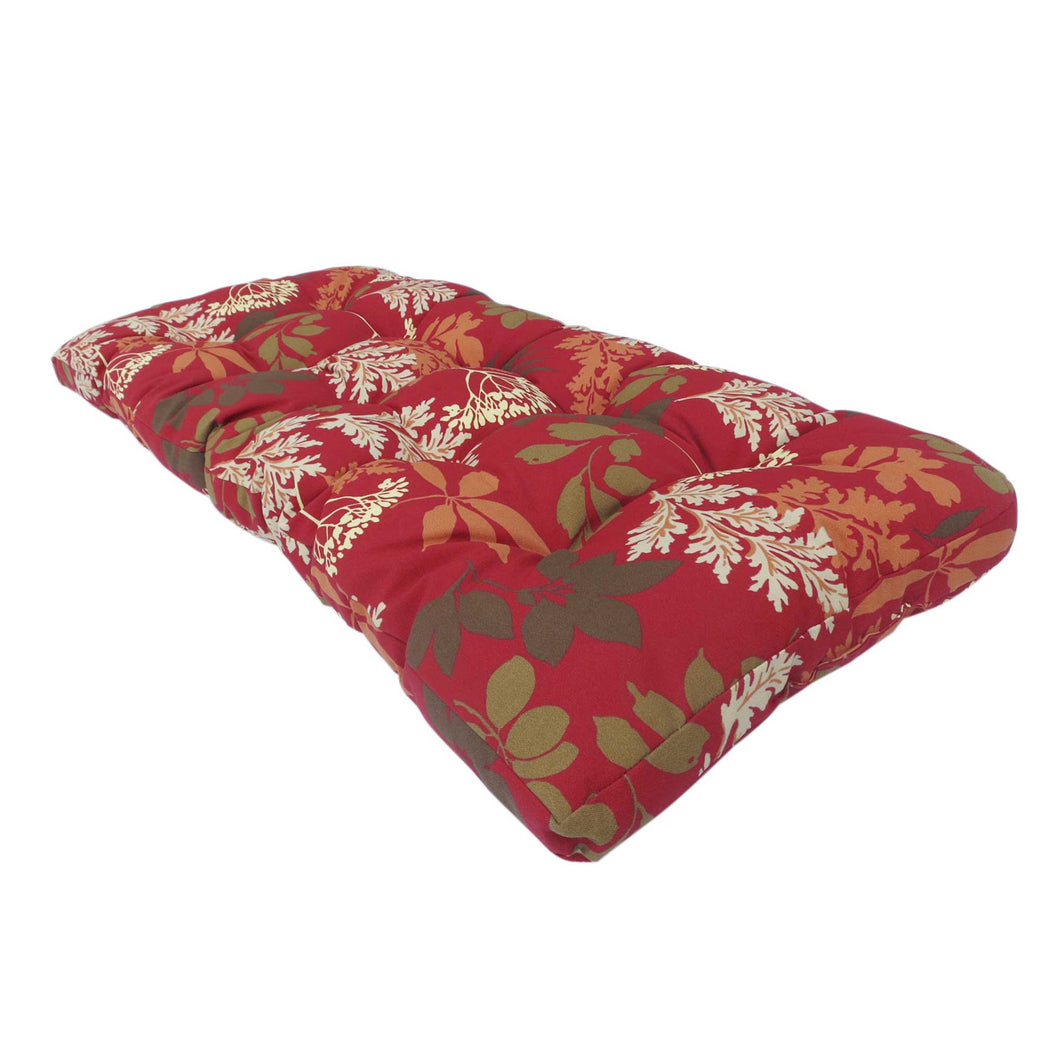 Lovebird Outdoor Bench Cushion 120cm - Red Floral