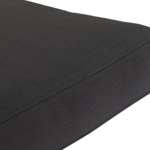 Gala Deep Seat Cushion with Button Set - Black/Grey