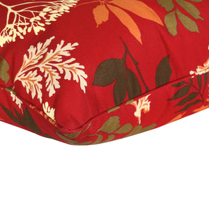 Bossima Stain Guard Outdoor Seat Pads - Red Floral