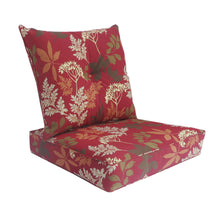 Bossima Ruby Deep Seat Cushion with Button Set - Red Floral