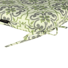 Elm Outdoor Seat Pad Cushions - Green Floral ( Sets of 4 )