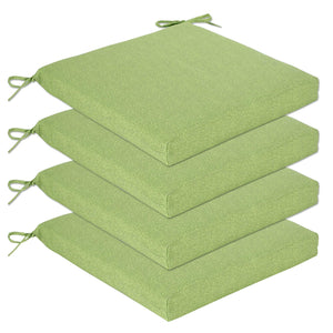 Set of 4 Bossima Seat Pad Large Outdoor Cushions Online - Green