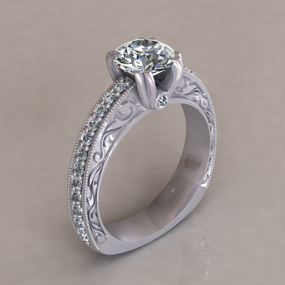 ENGAGEMENT RING - ANTIQUE 104B