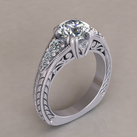 ENGAGEMENT RING - ANTIQUE 107