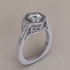 ENGAGEMENT RING - ANTIQUE 117