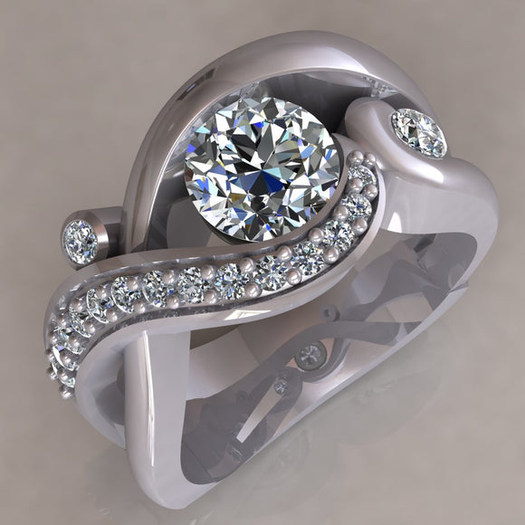 ENGAGEMENT RING - MODERN M113
