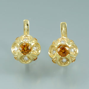 Yellow sapphire earrings 2