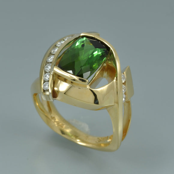 Green Tourmaline ring 7