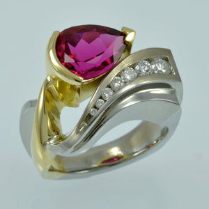 Rubilite Tourmaline ring