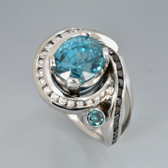 Blue Zircon ring 1