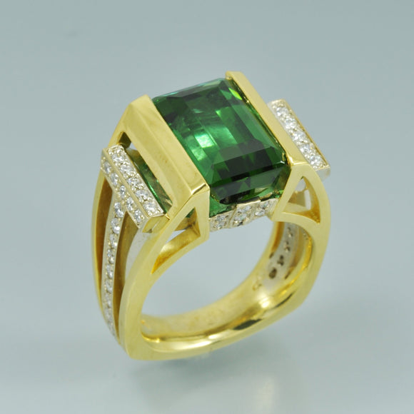 Green Tourmaline ring 1