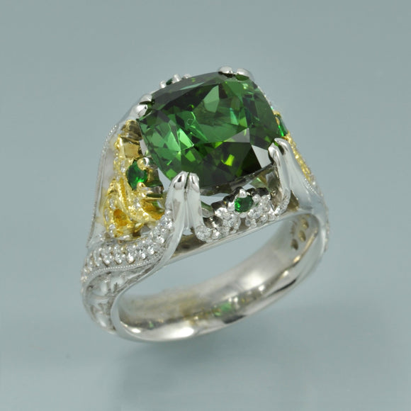 Green Tourmaline ring 2