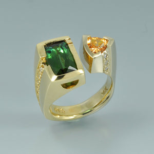 Green Tourmaline ring 3