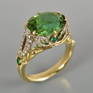 Green Tourmaline ring 5