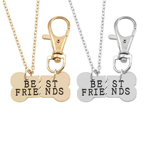 "2 Piece ""Best Friends"" Necklace Set for Dog & Owner"