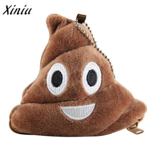 Poo plush coin purse