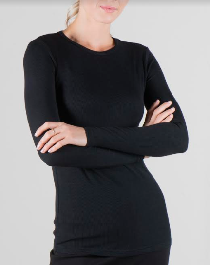 POINT POINT RIBBED LONG SLEEVE MODAL