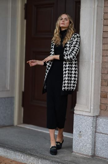 BLISS HOUNDSTOOTH CARDIGAN