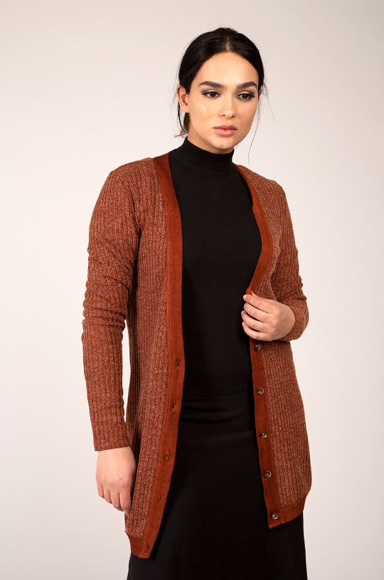 MAPLE & CLIFF RIBBED CARDIGAN