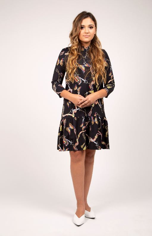 STATIC BUTTERFLY PRINT DRESS