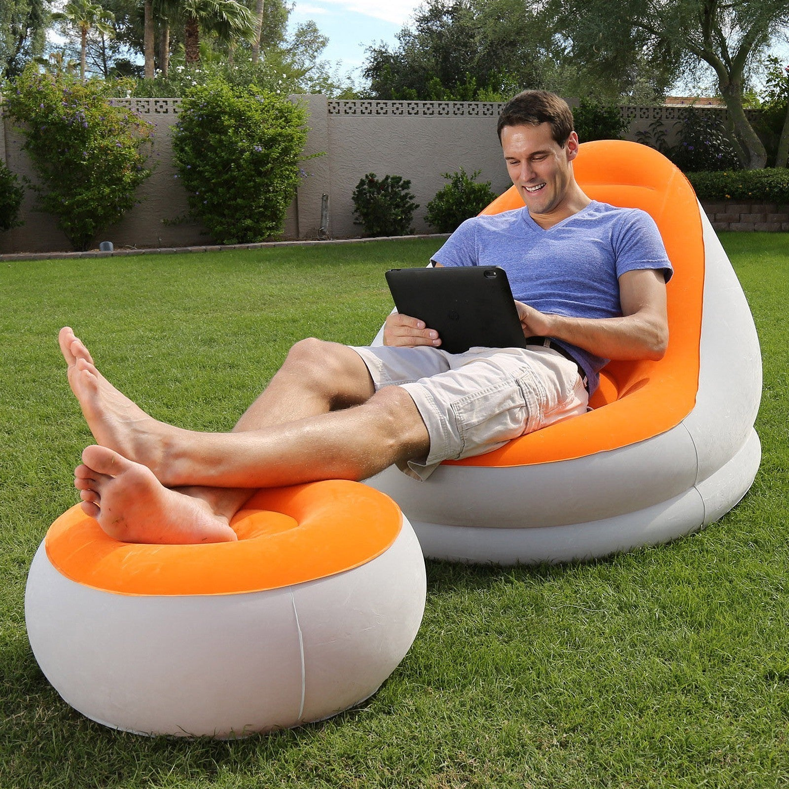 inflatable lounge furniture. New Inflatable Lounge Sofa With Chair Furniture