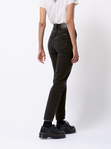 NUDIE JEANS Breezy Britt black worn