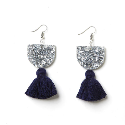EMELDO DESIGN Annie Earring silver with navy