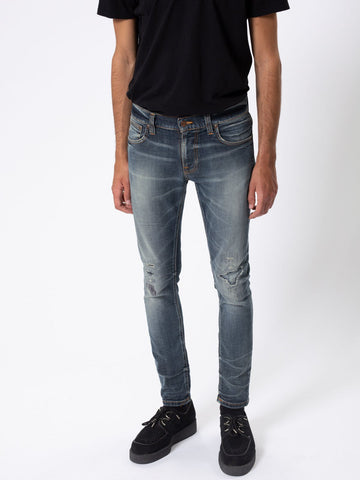 NUDIE JEANS Tight Terry worn repaired