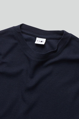 NN07 Clive L/S Tee navy