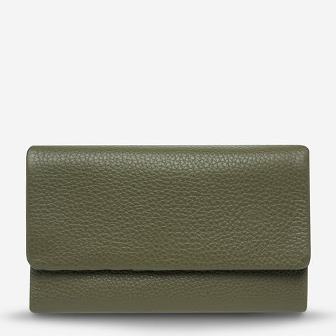 STATUS ANXIETY Audrey Wallet pebble khaki