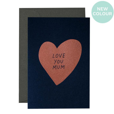 ME & AMBER Heart Love You Mum Card