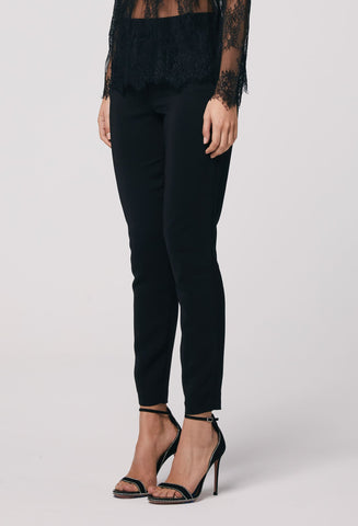 ONCE WAS Oregon Stretch Crepe Slim Fit Pant black