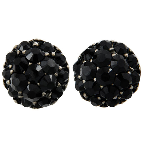 PETER LANG Farah Black Clip-On Earrings