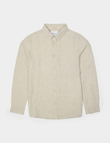 MR SIMPLE Linen Long Sleeve Shirt natural
