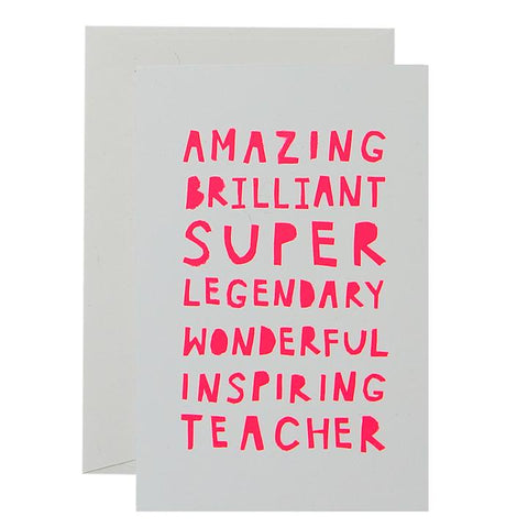 ME & AMBER Amazing Teacher Card